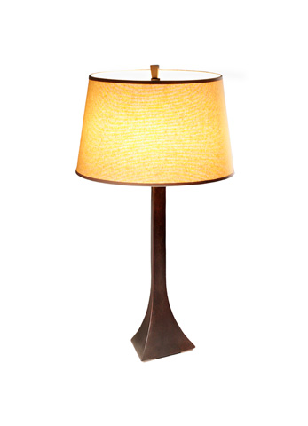 Image of a bronze table lamp.