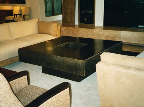Image of a bronze table.