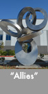 Thumbnail image of large stainless steel sculpture.