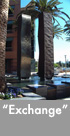Thumbnail image of large bronze and stanless steel water feature.