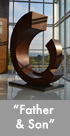 Thumbnail image of large bronze, stanless steel and glass sculpture.