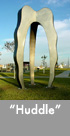 Thumbnail image of large bronze and stainless steel sculpture.