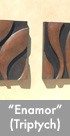 Thumbnail image of a 3 panel bronze wall sculpture.